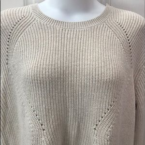 NEW w/Tag-BANANA REPUBLIC Beige Cable Sweater XL